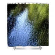 Yamhill River Abstract 24849 Shower Curtain