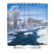 Yampa River Colorado Shower Curtain