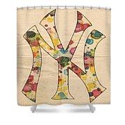 Yankees Vintage Art Shower Curtain