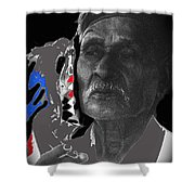 Yaqui Pascola Dancer Smoking Cigarette New Pascua Arizona 1969-2013 Shower Curtain