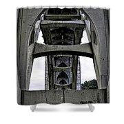 Yaquina Bay Bridge - Series C Shower Curtain