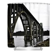 Yaquina Bay Bridge - Series D Shower Curtain