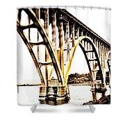 Yaquina Bay Bridge - Series G Shower Curtain