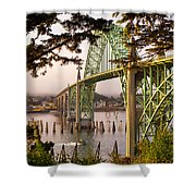 Yaquina Bay Bridge Morning Light Shower Curtain