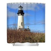 Yaquina Bay Lighthouse Shower Curtain