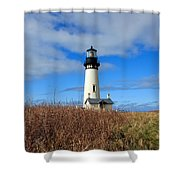 Yaquina Bay Lighthouse In Oregon Shower Curtain