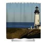 Yaquina Head Lighthouse 4 D Shower Curtain