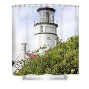 Haceta Head Lighthouse 7 Shower Curtain