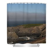 Yaquina Head Lighthouse-newport Shower Curtain