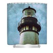 Yaquina Head Lighthouse Texture Shower Curtain