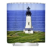 Yaquina Lighthouse From The Big Hill Shower Curtain