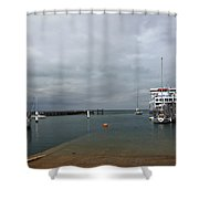 Yarmouth Harbour From The Slipway Shower Curtain