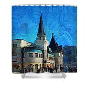 Yaroslavsky Railway Station Shower Curtain