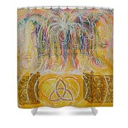 Yaweh El Shaddai Top Canvas Detail Shower Curtain