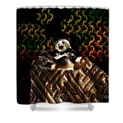 Yawning Panda  Shower Curtain