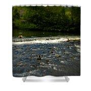 Ye Olde River Wye Shower Curtain