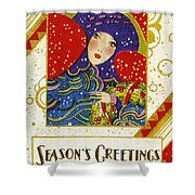 Year 1928 Vintage Greeting Card Shower Curtain