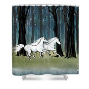 Year Of The Wood Horse Shower Curtain