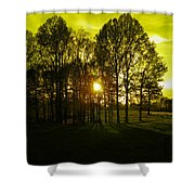 Yeller Wood Shower Curtain