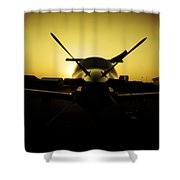 Yello Lady Shower Curtain