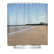 Yellowcraigs At Low Tide Shower Curtain