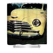 Yellow 47 Chevrolet Shower Curtain