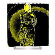 Yellow And Black Woman Shower Curtain