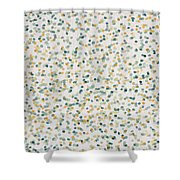 Yellow And Blue Dots Shower Curtain