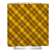Yellow And Brown Diagonal Plaid Pattern Cloth Background Shower Curtain
