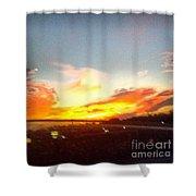 Yellow And Orange Sunset Shower Curtain