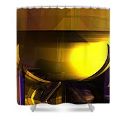 Yellow And Purple Contrast Shower Curtain