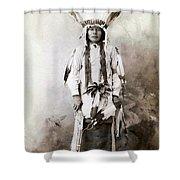 Yellow Badger 1880 Shower Curtain