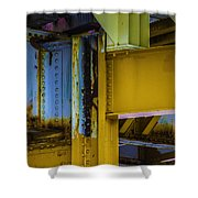 Yellow Beams Versiontwo Shower Curtain