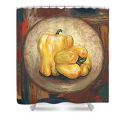Yellow Bell Peppers Shower Curtain