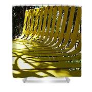 Yellow Bench Shower Curtain