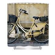 Yellow Bicycle In Copenhagen Shower Curtain