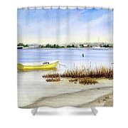 Yellow Boat I Shower Curtain