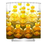 Yellow Bottle Shower Curtain
