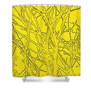 Yellow Branches Shower Curtain