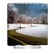 Yellow Brick Road Central Park Shower Curtain