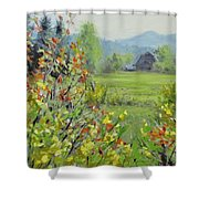 Yellow Broom Spring Shower Curtain