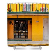 Yellow Buidling Mexico Shower Curtain