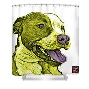 Yellow Bull Fractal Pop Art - 7773 - F - Wb Shower Curtain