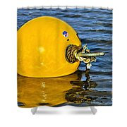 Yellow Buoy Shower Curtain