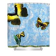 Yellow Butterflies - Spring Art By Sharon Cummings Shower Curtain