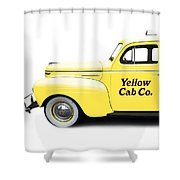 Yellow Cab Square Shower Curtain