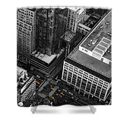 Yellow Cabs - Bird's Eye View Shower Curtain