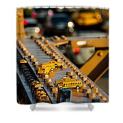 Yellow Cabs Shower Curtain