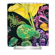Yellow Cala Lilies Shower Curtain