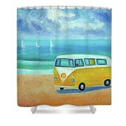 Yellow Camper Shower Curtain